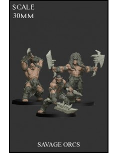 Savage Orcs 3 miniatures