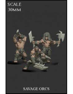 Savage Orcs 3 miniatures