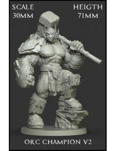 Orc Champion V2 Scale 30mm