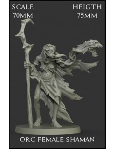 Orc Female Shaman Scale 70mm