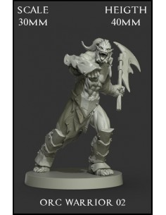 Orc Warrior 02 Scale 30mm