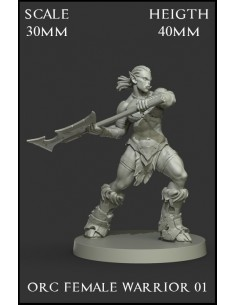 Orc Female Warrior 01 Scale...