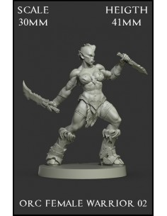 Orc Female Warrior 02 Scale...
