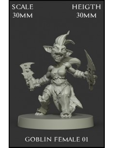 Goblin Female 01 Scale 30mm
