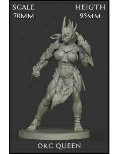 Orc Queen Scale 70mm
