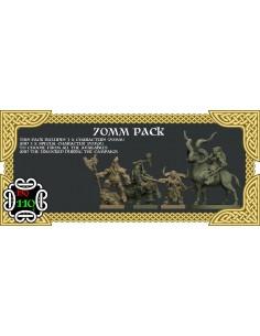 Four 70 MM Miniatures Dwarf