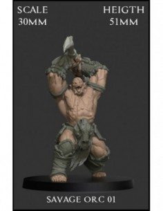 """""""Savage Orc 01"""" 30mm Scale"""