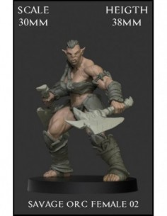 """Savage Orc Female 02"" 30mm..."