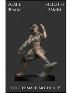 """Orc Female Archer 03"" 30mm..."