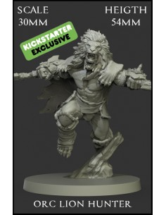 Lion Hunter Orc Scale 30mm...