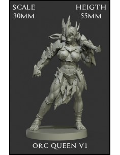 Orc Queen V1 Scale 30mm