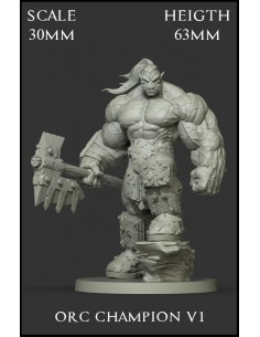 Orc Champion V1 Scale 30mm