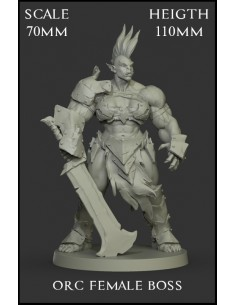 Orc Female Boss Scale 70mm