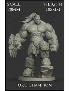 Orc Champion Scale 70mm