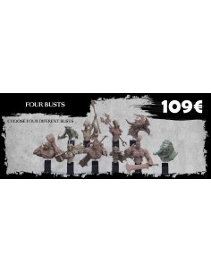 Four Busts Orc Warband