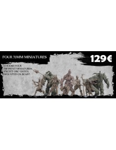 4 Miniaturas de 70 MM Orc...