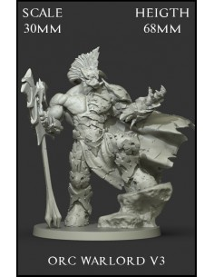 Orc Warlord V3 Scale 30mm