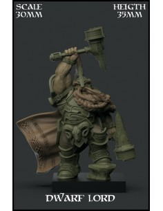 """Dwarf Lord"" Character 30mm..."