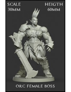 Orc Female Boss Scale 30mm
