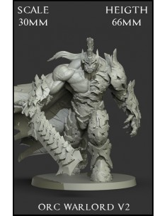 Orc Warlord V2 Scale 30mm