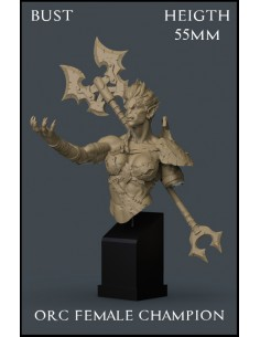 Orc Female Champion Bust