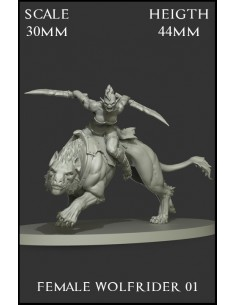 Female Wolfrider 01 Scale 30mm
